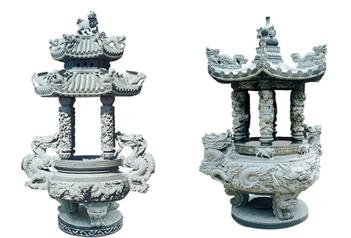 传统古建寺院石雕香炉样式及特点
