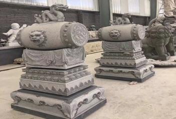 传统古建建筑门墩石抱鼓石门鼓石的区别