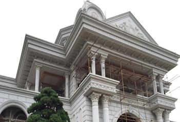 别墅建筑建材挂板装饰