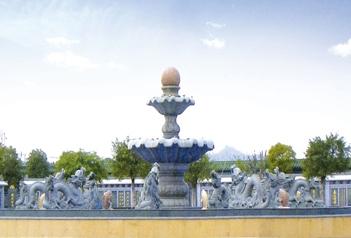 福建石雕厂家分析小区园林景观一些美化设计的作用