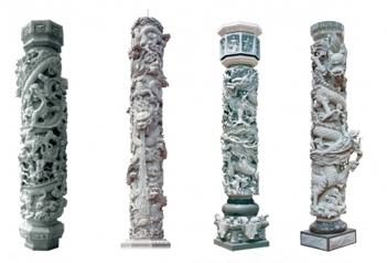 福建石雕生产厂家对石雕龙柱进行详细分享