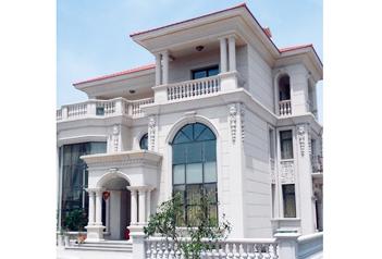 别墅的安全与美观,需要外墙干挂石材来装饰