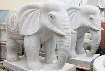 石雕大象寓意及摆放风水讲究