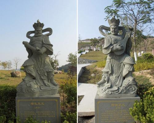 昆山园林景观四大金刚雕像