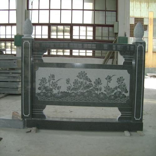 大理石浮雕石材栏杆