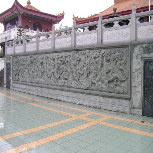 传统寺庙石材栏杆