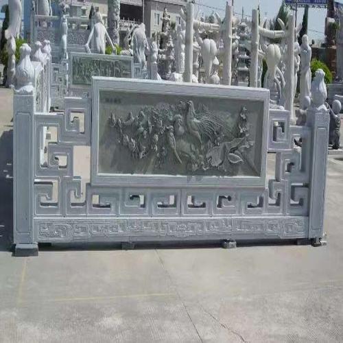 石材栏杆-百鸟浮雕