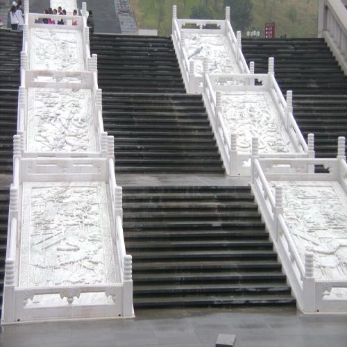 寺庙栏杆浮雕