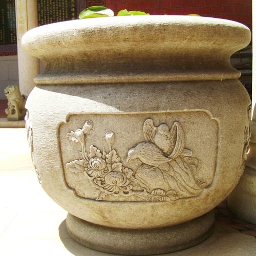 昆山景观石雕花钵